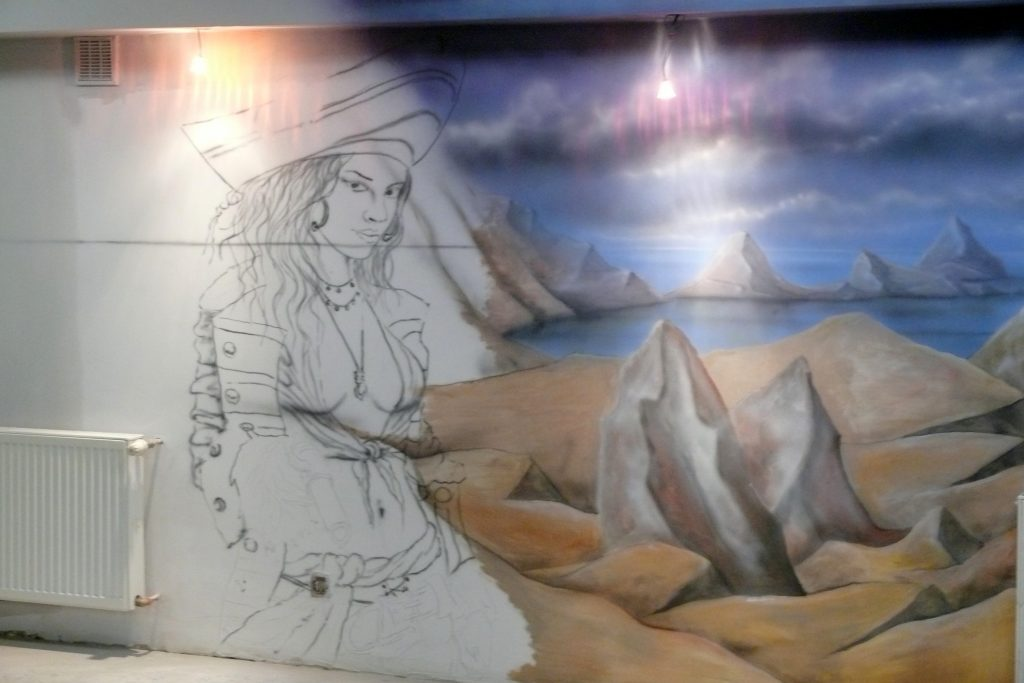 Malowanie kręgielni, projektowanie i wizualizacja ścian 3D
