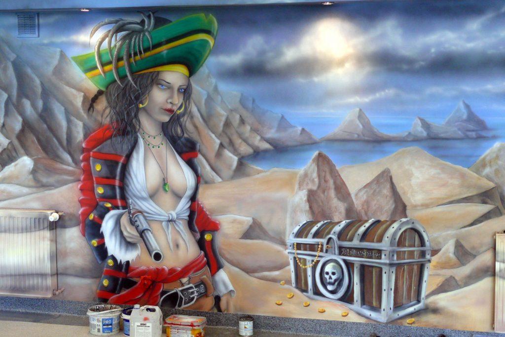Malowanie kręgielni, painting the bowling alley