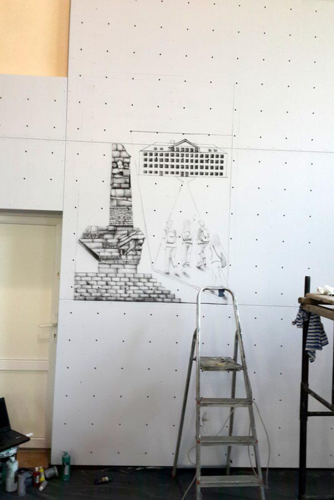 Malowanie reklam na ścianie, malowanie szyldu reklamowego i loga,