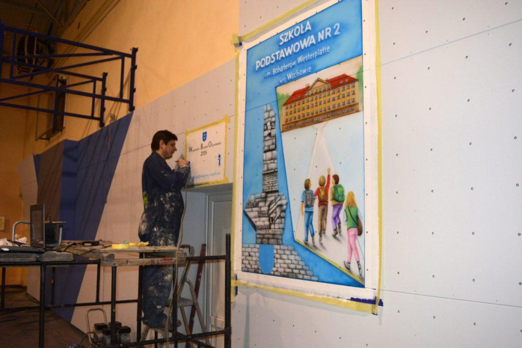 Malowanie loga na ścianie, malowanie szyldu reklamowego, malowanie reklam