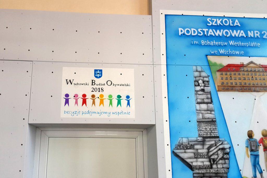 Malowanie loga szkoły, Malowanie loga na ścianie, malowanie szyldu reklamowego