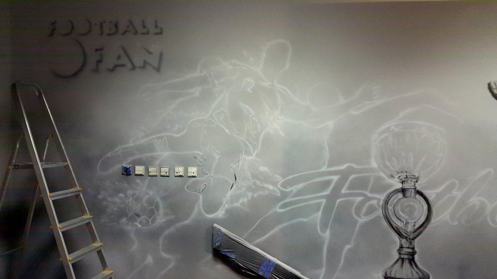 Mural w sklepie, aranżacja ściany w sklepie