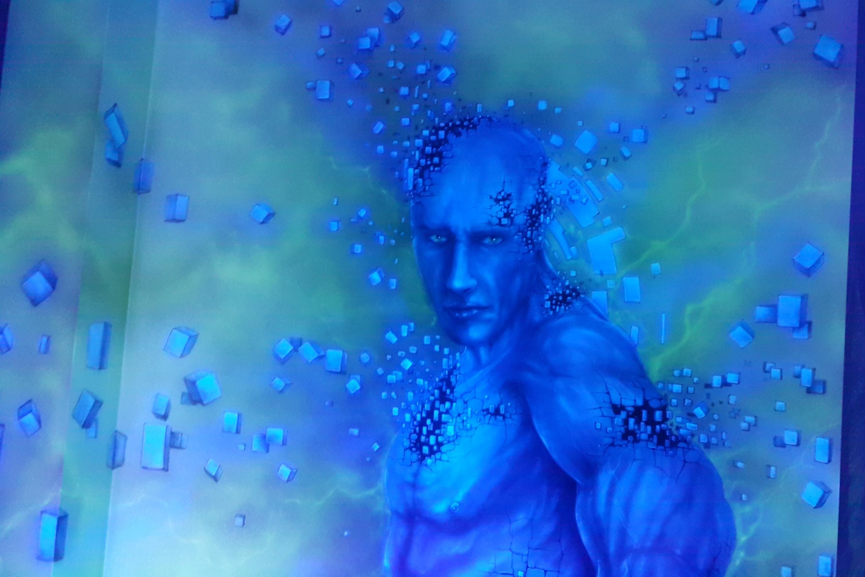 Obraz świecący w ciemności, mural UV namalowany w ultrafiolecie, obrazu malowane w ultrafiolecie
