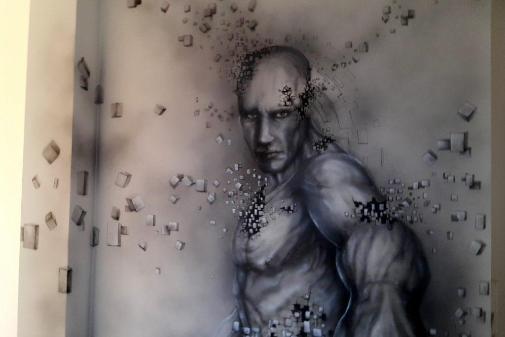 Obraz świecący w ciemności, graffiti UV, mural UV namalowany w ultrafiolecie, obrazu malowane w ultrafiolecie