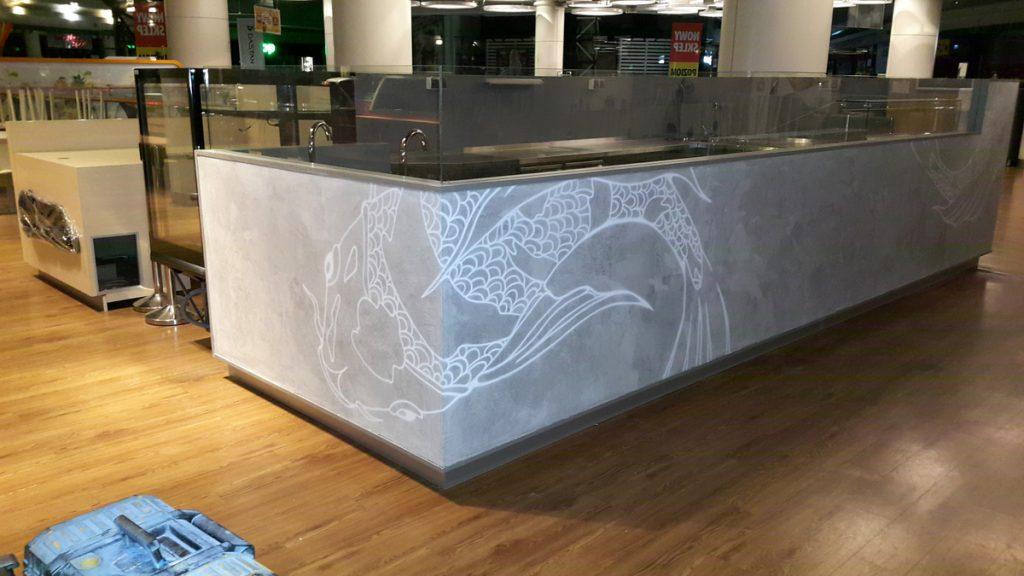malowanie restauracji, Mural w restauracji sushi