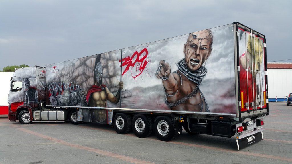 Tuning ciężarówki, malowanie tira aerografem