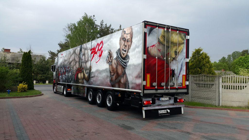 Tuning ciężarówki, malowanie tira aerografem, airbrush truck,