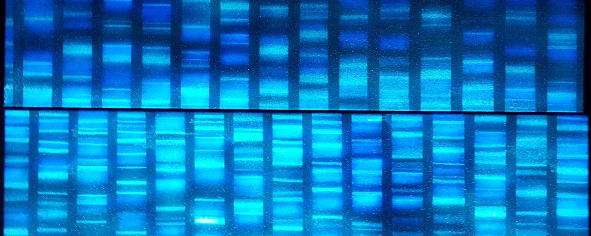 duże obrazy olejne do nowoczesnych wnętrz, abstrakcja na płótnie, sekwencjonowanie DNA