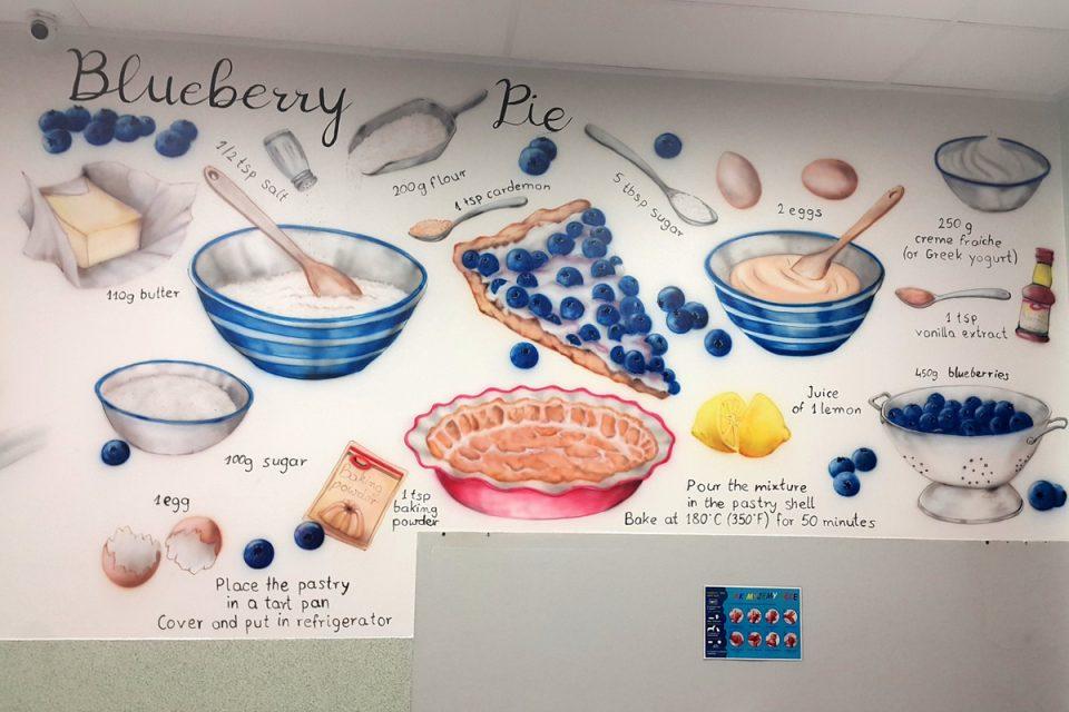 Mural na stołówce, malowanie stołówki w szkole, mural 3D Inowrocław