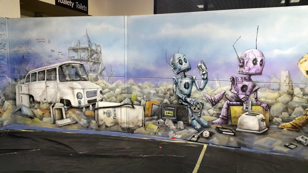 Mural malowanu na festiwalu fantastyki Comic Con, Ariel Kula