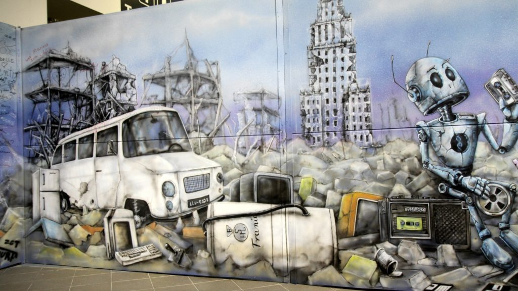 Malowanie obrazu na zywo na festiwalu fantastyki Comic Con