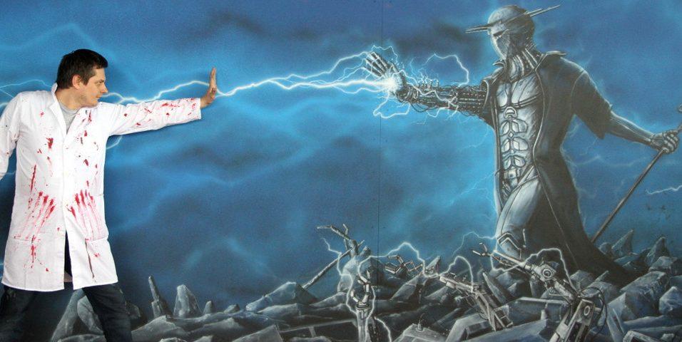 Pyrkon 2019 mural