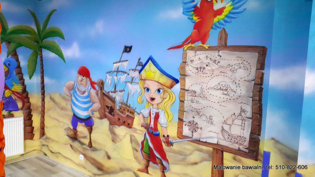 Malowanie sali zabaw dla dzieci, Mural 3D