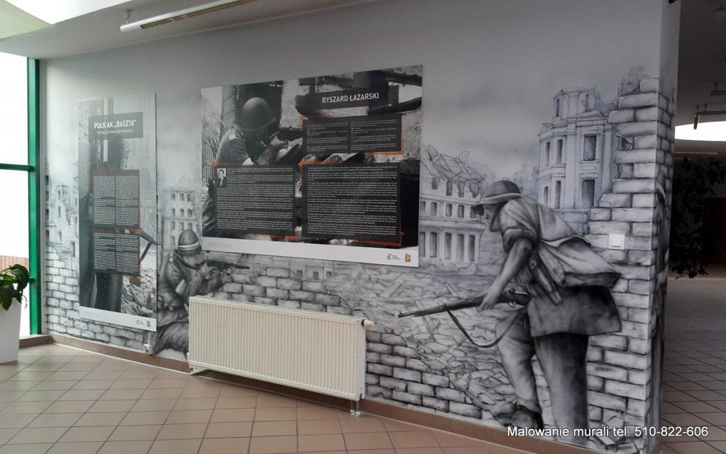 Mural czarno-biały