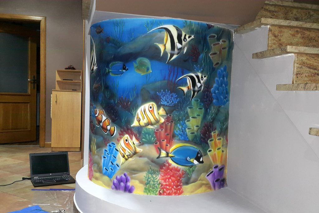 Malowanie podwodnego światu,