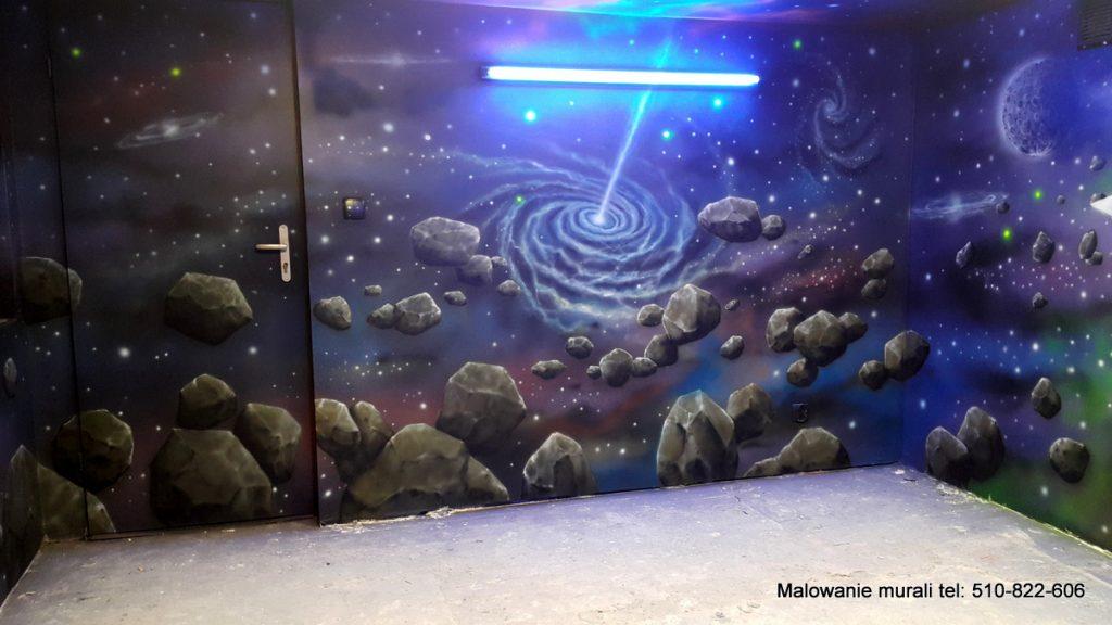 Malowanie sali zabaw dla dzieci, mural w bawialni Bajkoland w Jarocinie