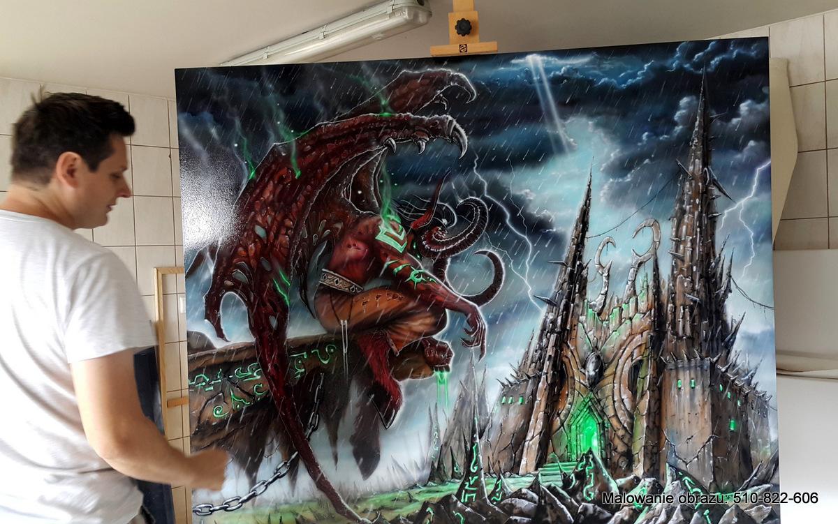 Malowanie obrazu olejnego z gry WarCraft