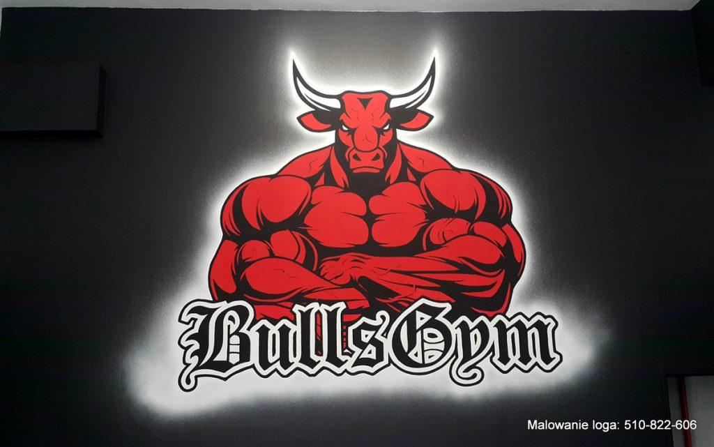 Malowanie loga w siłownia mural 3D