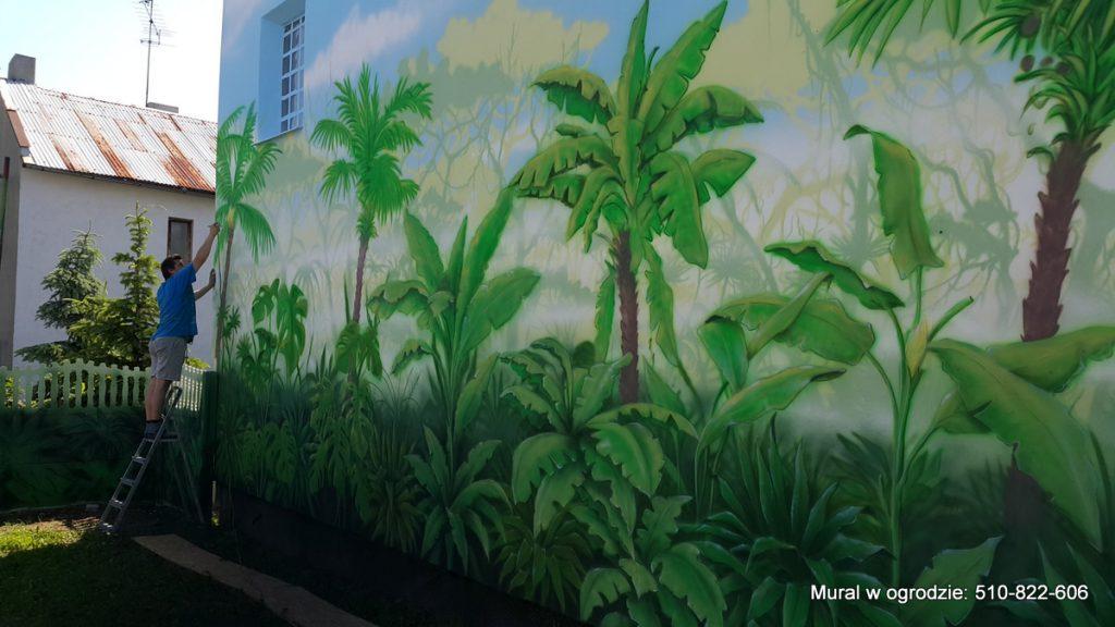 Malowanie lasy tropikalnego