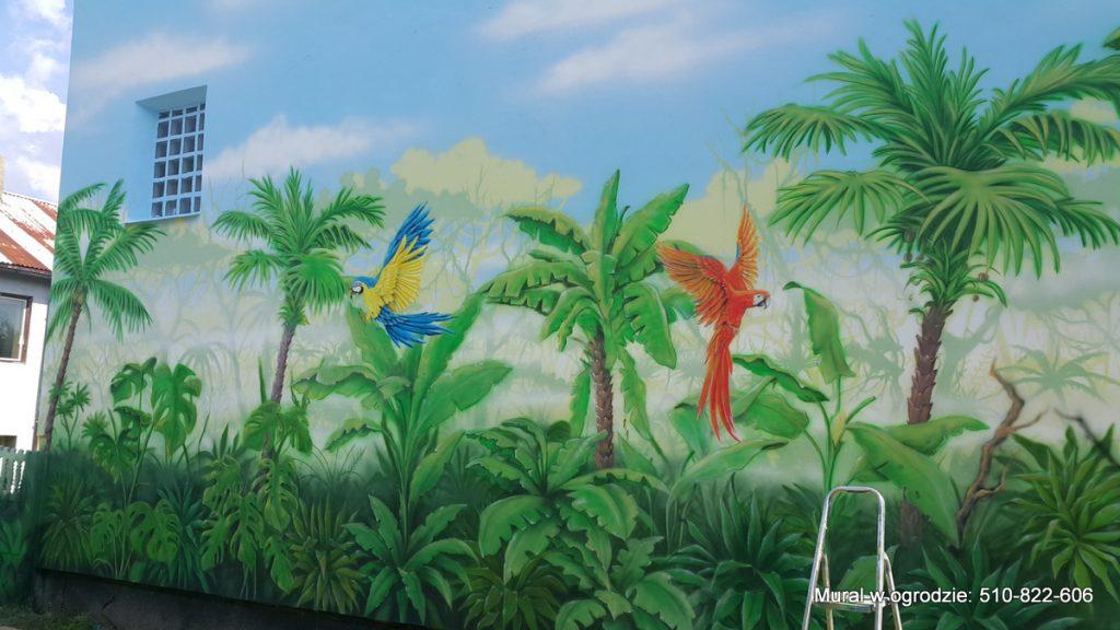 aranżacja ściany w ogrodzie Malowanie ściany w ogrodzie krok po kroku