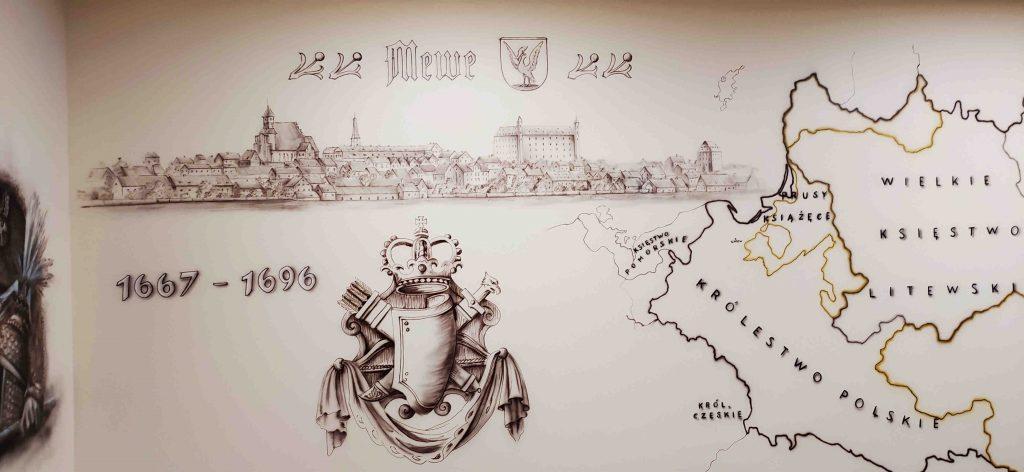Mural w pracowni historycznej, ciekawy pomysł na urządzenie klasy