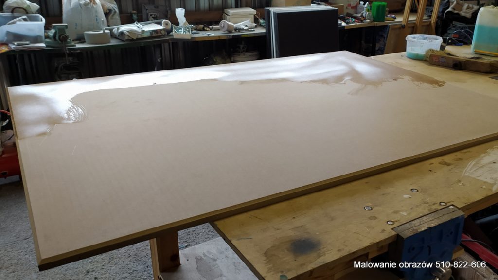 Przygotowanie dużego obrazu do malowania