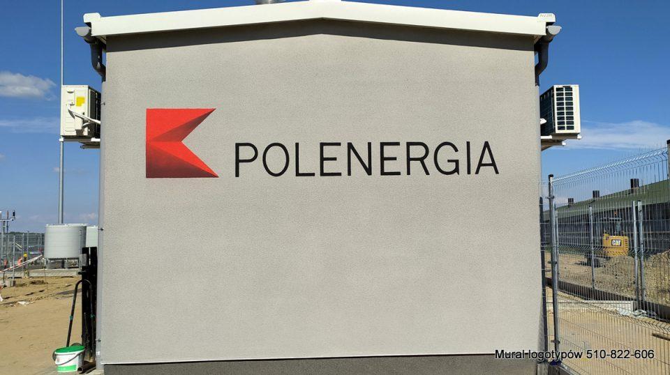 Malowanie znaku graficznego na elewacji budynku, logo trujwymiarowe na budynku