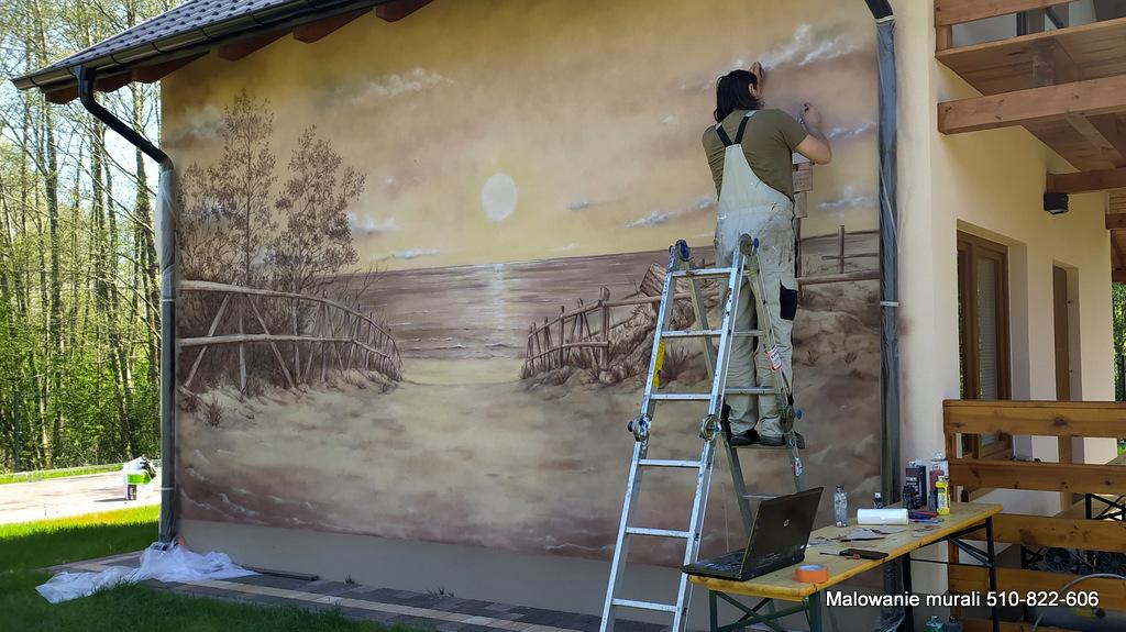 Aranżacja domków wczaswych, malowanie domków wypoczynkowych