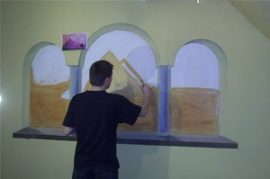 2.-artystyczne malowanie ściany