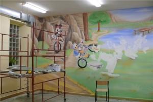 2.-malowanie szkolnej świetlicy