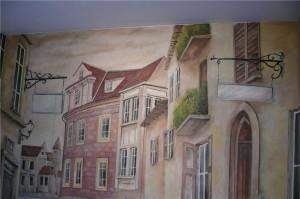 wąska-uliczka,-malarstwo