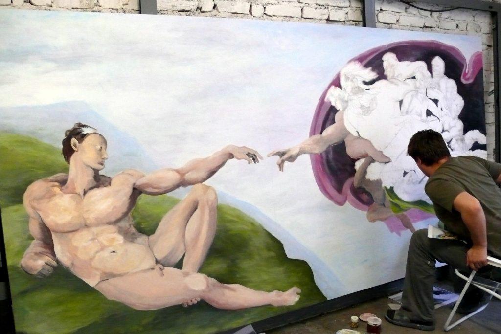 Malowanie obrazów olejnych reprodukcje znanych dzieł, malarstwo sztalugowe