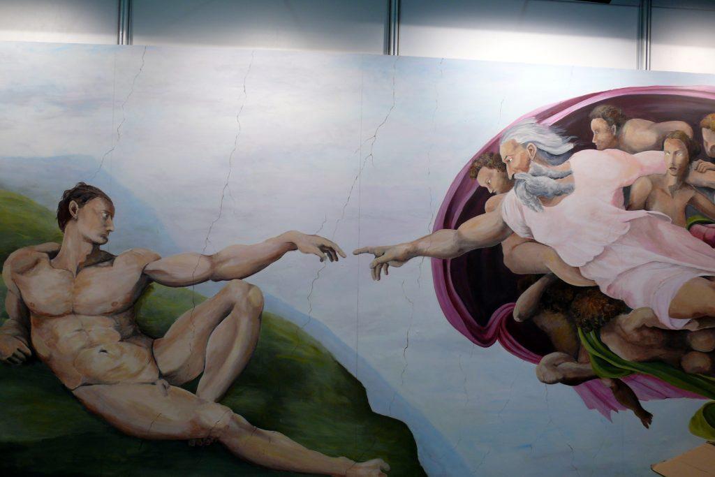 Malowanie reprodukcji Stworzenie Adama