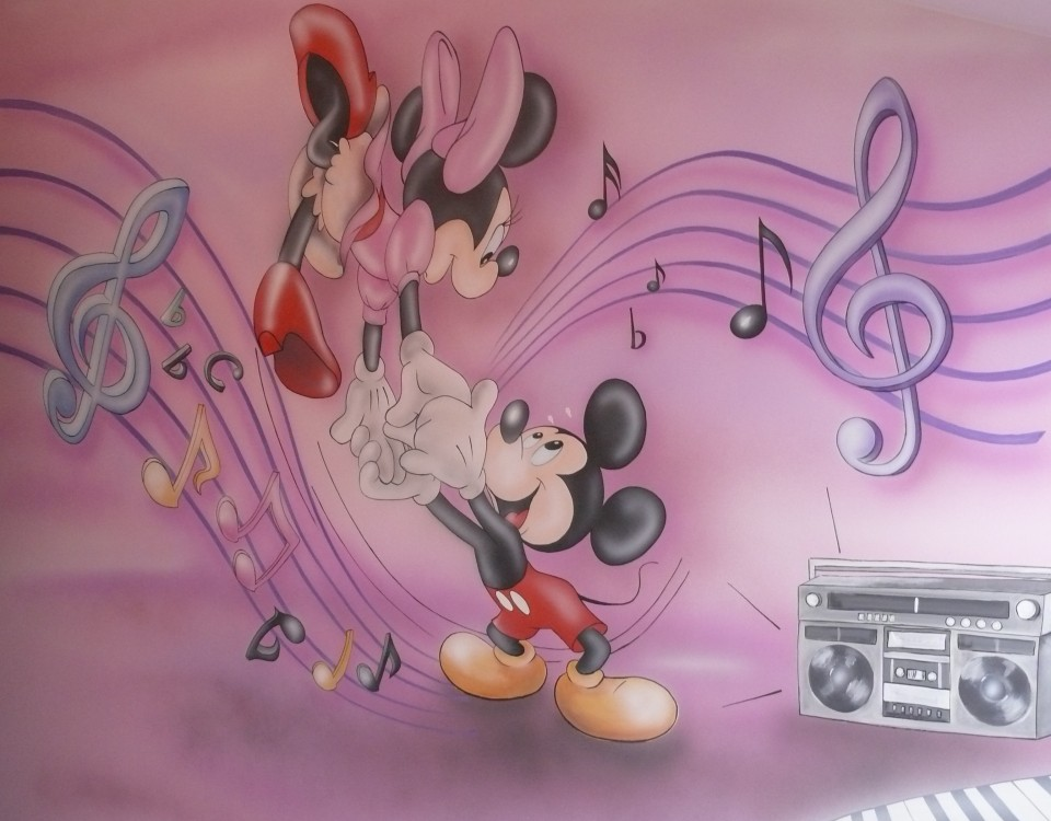 Różowy Pokój dziewczynki, myszka Micka