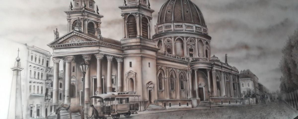 Malowanie grafik na ścianie, mural 3D, malarstwo ścienne