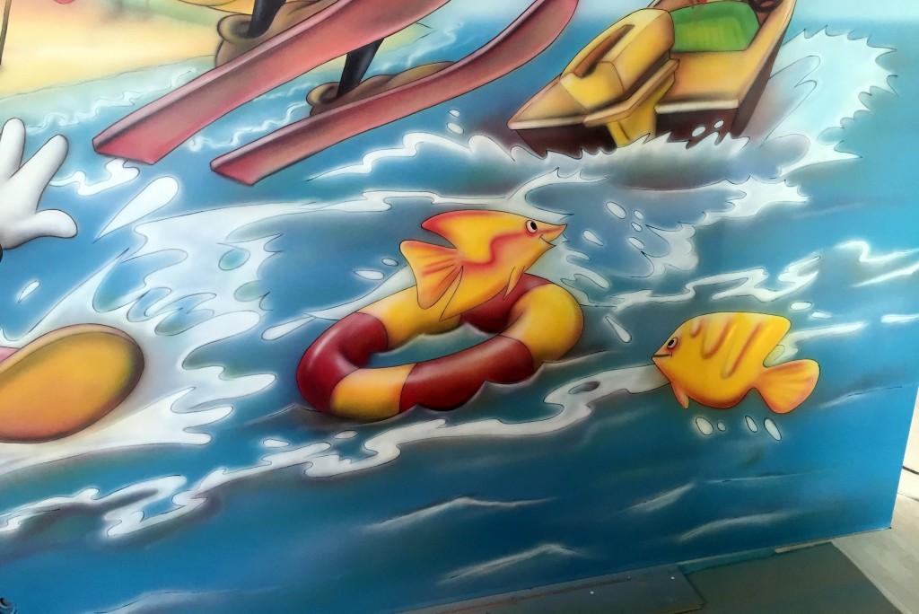 Malowidło ścienne w pokoju dzieciecym, mural 3D