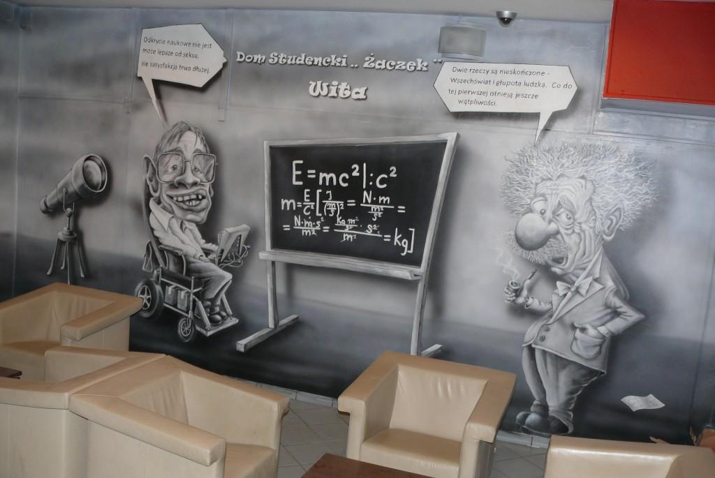 Mural reklamowy, ręczne malowanie szyldu na scianie