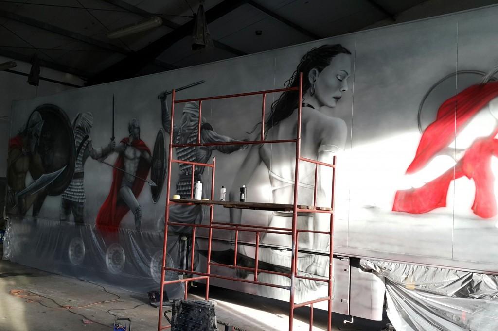 airbrush truck, malowanie areografem