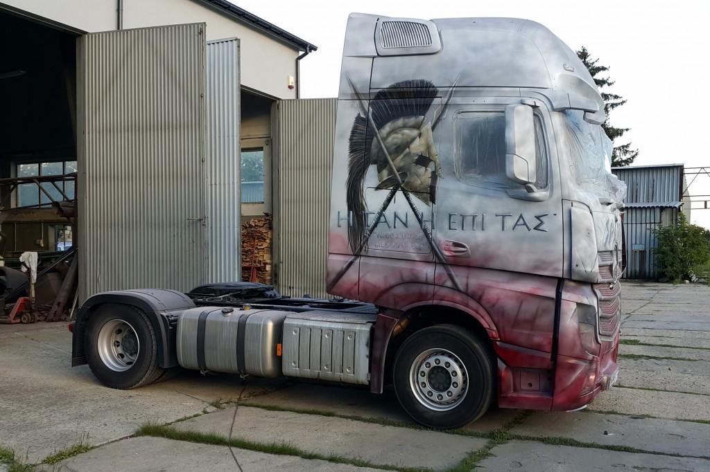 Malowanie tirów areografem, grafitti samochodowe