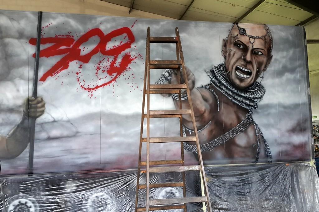 Graffiti na cieżarówce, malowanie ciężarówki