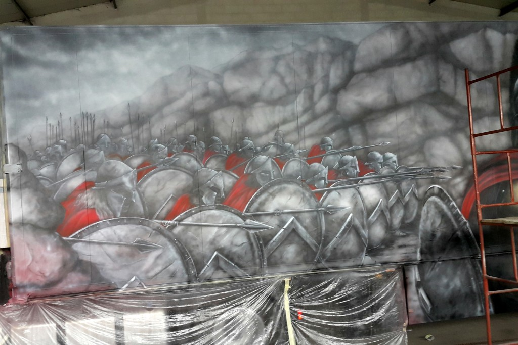 Malowanie grafiki na tirze, airbrush