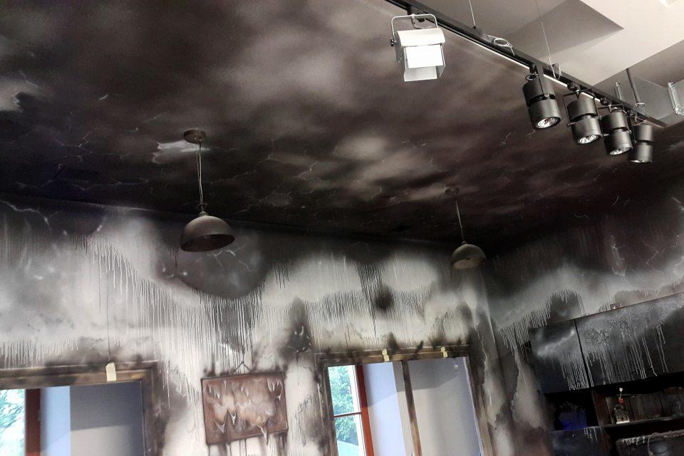 Aranżacja pomieszczenia na zniszczone
