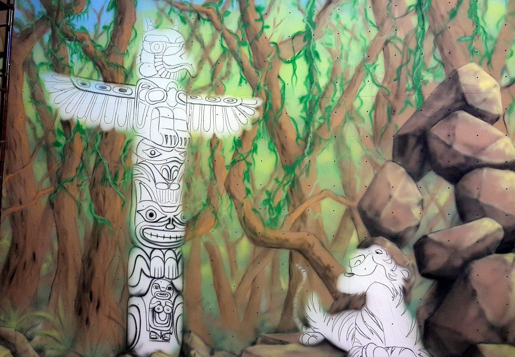 Malowanie murali, graffiti 3D