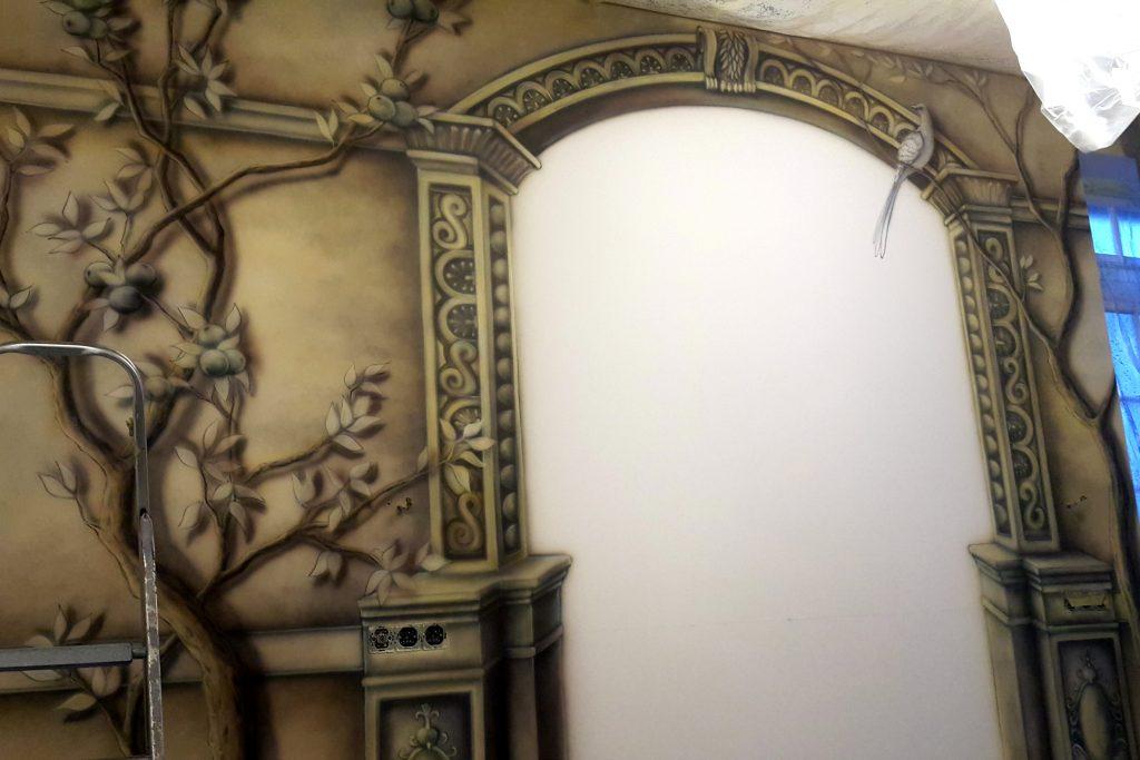 Obraz 3D w sypialni, Obraz namalowany w sypialni na ścianie, jak pomalować sypialnię?