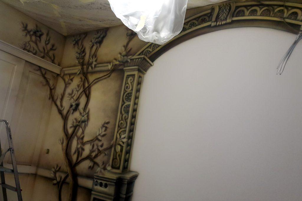 Obraz 3D w sypialni, Fresk w sypialni na ścianie, Jak pomalować sypialnię?
