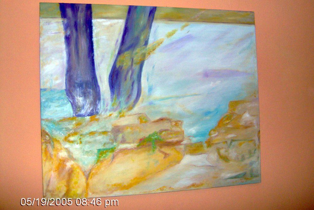 Obraz abstrakcyjny, malowanie obrazu olejnego do nowoczesnego wnętrza