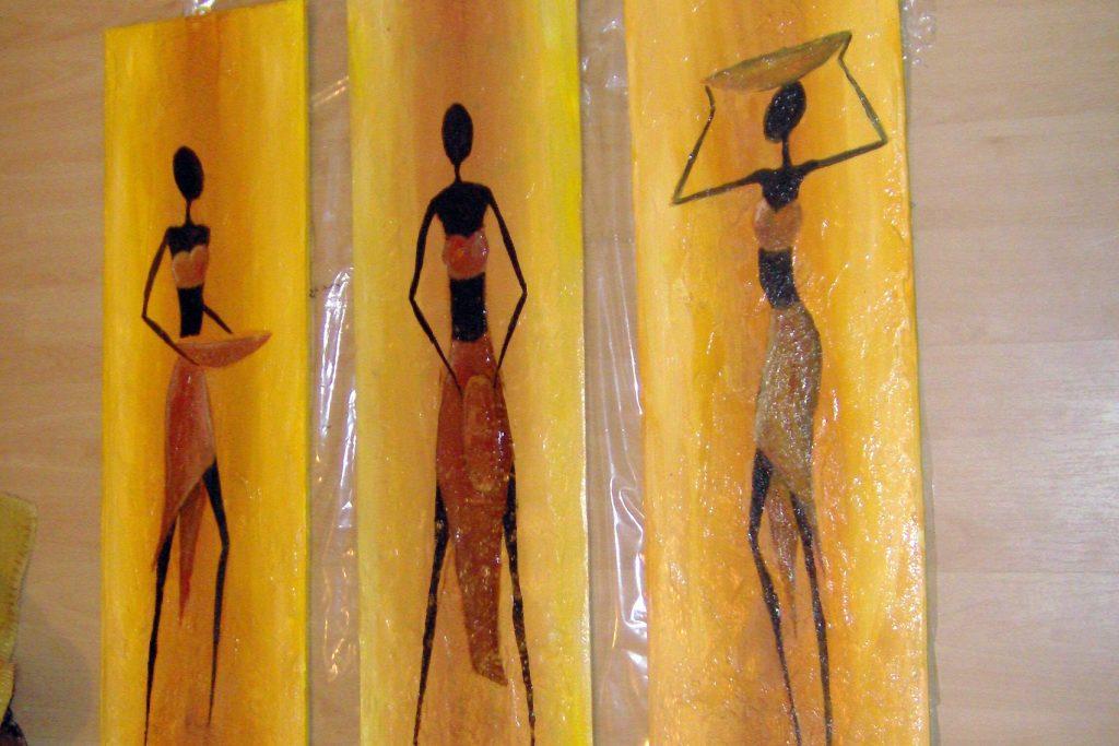 Malowanie tryptyków, motyw afrykański
