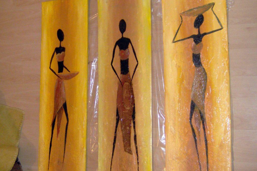 Malowanie obrazów olejnych o tematyce afrykańskiej