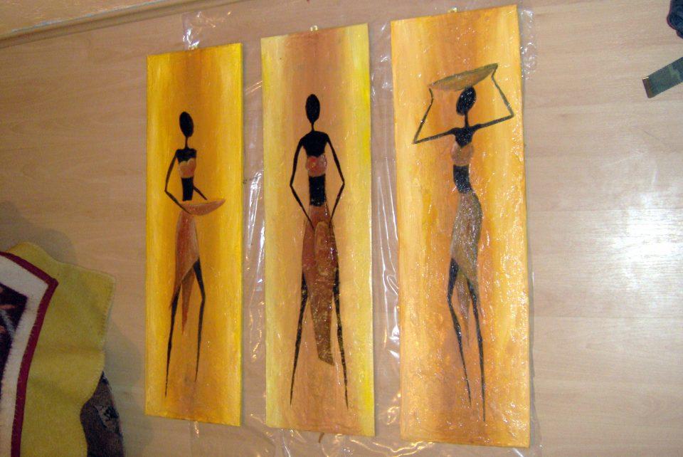 Obraz olejny o tematyce afrykańskiej, artystyczne malowanie scian