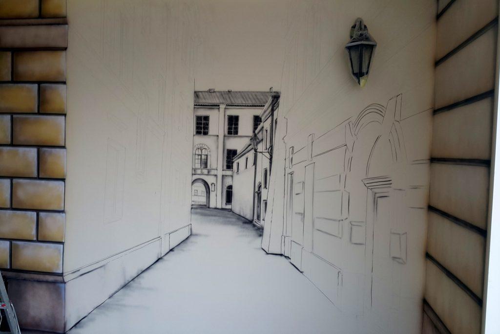 Artystyczne malowanie ścian, Malowanie obrazów na ścianie